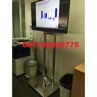 Bracket TV Standing Stainless mirror 2tiang Kuat & kekar