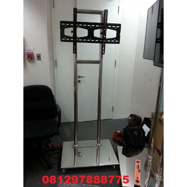 Bracket TV Standing Stainless mirror 2tiang Kuat & kekar