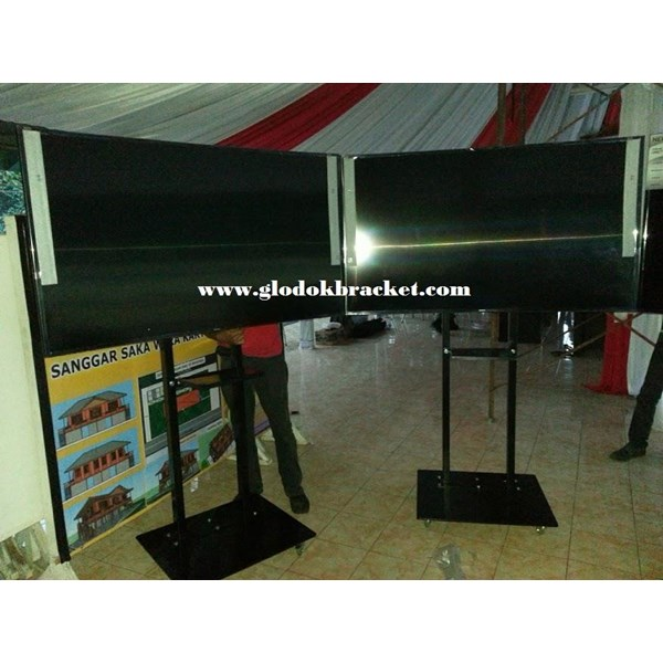 standing Bracket TV LCD / LED 40 s/d 70 inch - braket TV berdiri murah