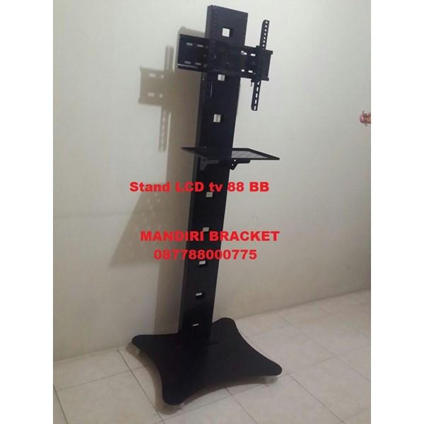 Bracket tv Stand Kupu-Kupu Tiang Lebar