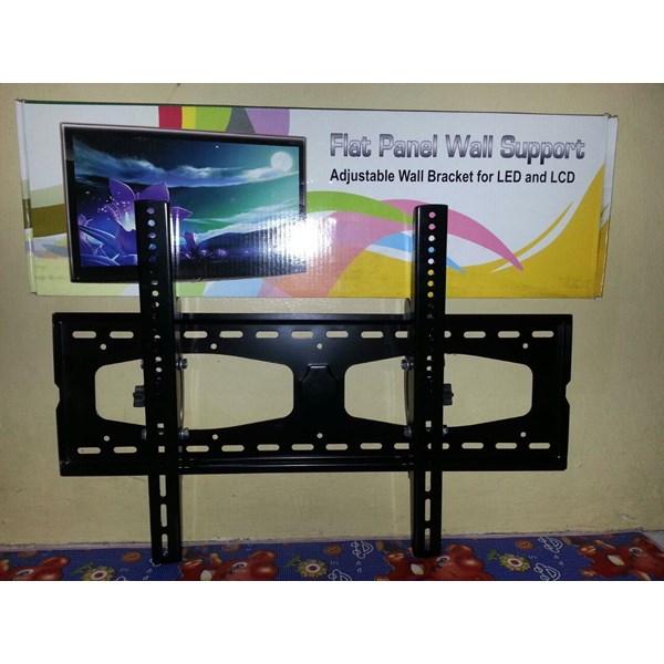 Bracket tv tilt gambar pelangi besi tabal murah ukuran xl