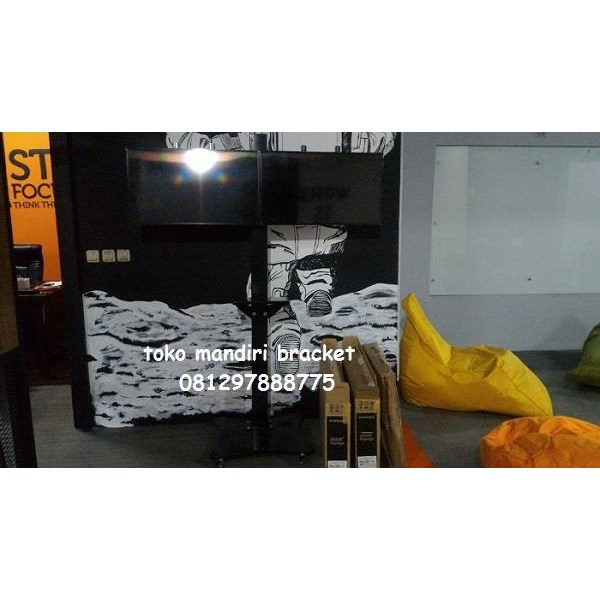 Jual Standing Bracket TV led Plat kupu kupu berdiri  (2 LCD LED TV)
