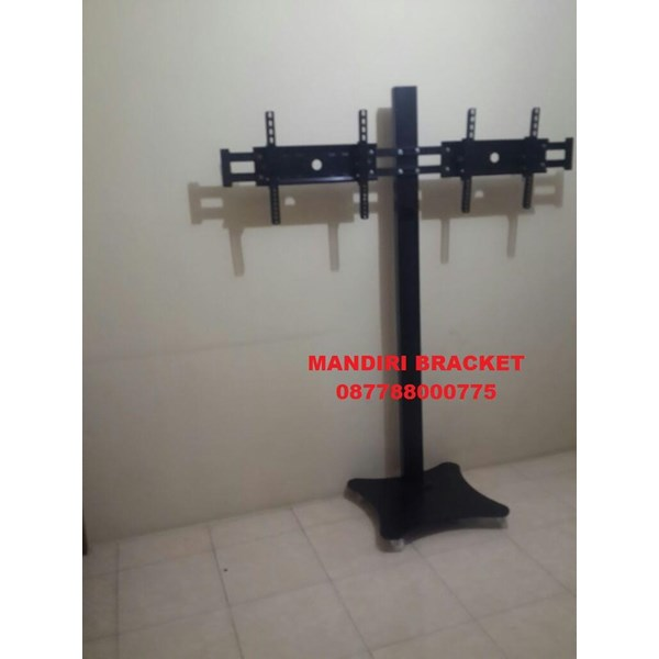 Bracket TV Standing plat kupu-kupu  (2 LCD LED TV)