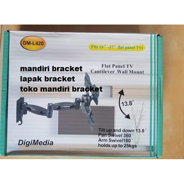 "Bracket TV LED LCD TV 10"" - 37"" DIGIMEDIA DM-L420 Swivel Brecket Breket"
