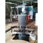 Bracket TV led tiang Standing custom type pagar (model plat kupu kupu ) 2