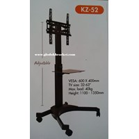 Beli Braket TV Mobile  Stand  Merek Kenzo KZ-52 for FLAT TV MURAH 4