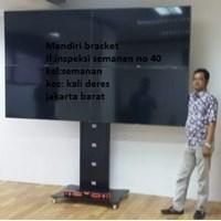 Bracket tv led standing berdiri plat kupu kupu 4 tv