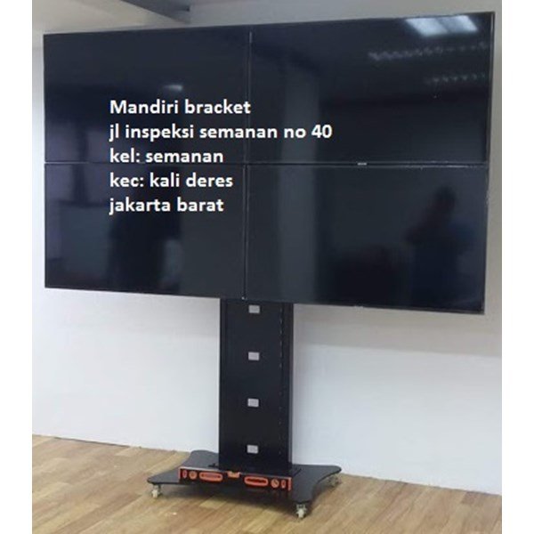 Bracket tv led standing berdiri plat kupu kupu 4 tv