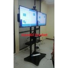 tv bracket standing plate kupu kupu two tv