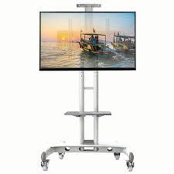 North Bayou bracket tv Universal Mobile TV Cart TV Stand warna putih