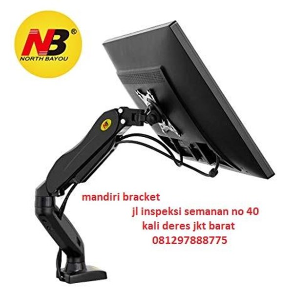 Bracket TV North Bayou type Nb-f80 Gas Spring Monitor Meja