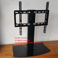 Bracket TV led lcd Standing meja custom