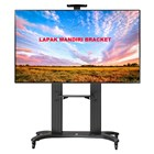 Bracket TV stand North Bayou AVF 1800 -70-1P 55 -80 INCI STEEL TV STANDING DENGAN RODA 3