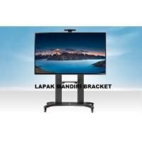 Bracket TV stand North Bayou AVF 1800 -70-1P 55 -80 INCI STEEL TV STANDING DENGAN RODA