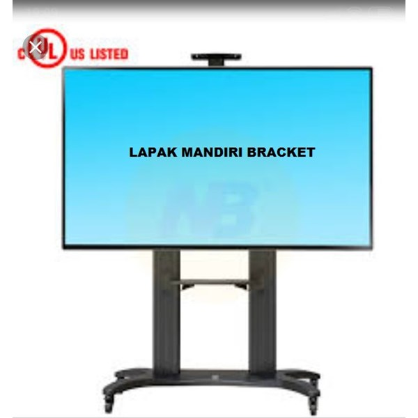 Bracket TV stand North Bayou AVF 1800 -70-1P 55 -80 INCI STEEL TV STANDING DENGAN RODA