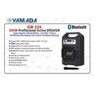 Speaker Portable Yamada DM S20 USB Bluetooth Wireless 2