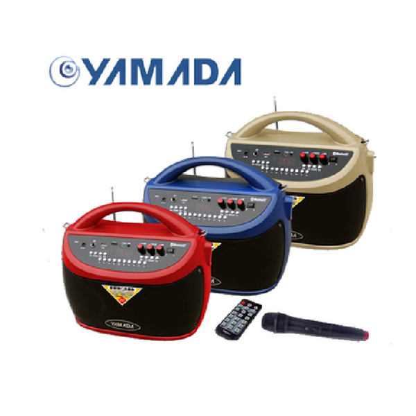 Speaker Portable Aktif multifungsi YAMADA DM-BT10 Bluetooth Portable megaphone