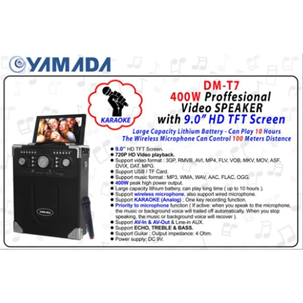 Speaker Portable Yamada DM-T7 Video Speaker