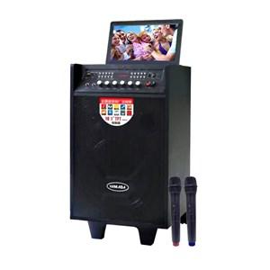 Dari Speaker portable Yamada DM-T2 Video Karaoke 10 inci HD TV Screen AUX MP3 MP4 Gratis Wireless Mic 0