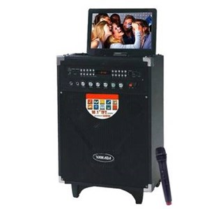 Dari Speaker PortableYAMADA DM T5 600W Audio Video Speaker 10.1 HD TFT Screen Karaoke Mic 2