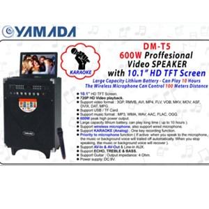 Dari Speaker PortableYAMADA DM T5 600W Audio Video Speaker 10.1 HD TFT Screen Karaoke Mic 1