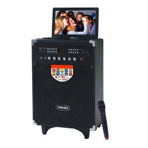 Dari Speaker PortableYAMADA DM T5 600W Audio Video Speaker 10.1 HD TFT Screen Karaoke Mic 3