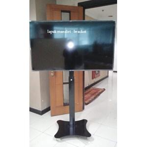 Jual Bracket TV Standing Tiang turun naik Plat Kupu Kupu