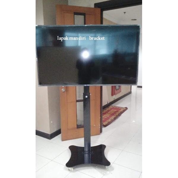 Bracket TV Standing Tiang turun naik Plat Kupu Kupu