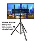 bracket tv tripod murah kuat dan kekar tiang turun naik ukuran 50inch 1