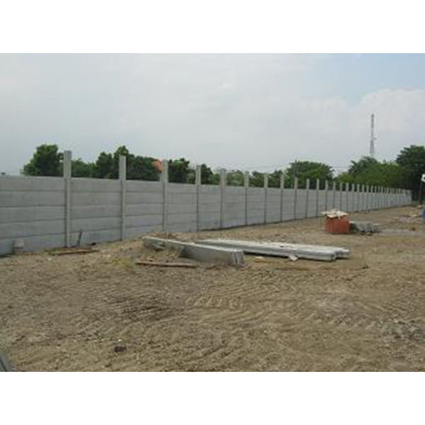 Concrete Fence Panels Installed