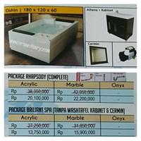 Bathtub standing OSHIN (paket whirlpool)
