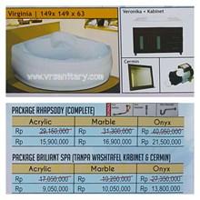 Bathtub corner VIRGINIA (paket whirlpool)