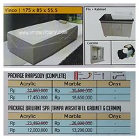 Bathtub long VINCO (paket whirlpool)