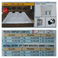Bathtub mini pool AARON (paket whirlpool)
