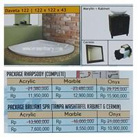 Jual Bathtub Corner DAVETA 122 (paket whirlpool)