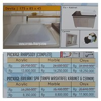 Jual Bathtub long DEVILA (paket whirlpool)