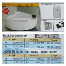 Bathtub corner DEVONA 125 (paket whirlpool)