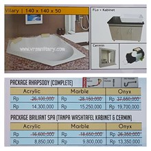 Bathtub corner VILARY (paket whirlpool)