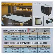 Bathtub long LEXIANO (paket whirlpool)