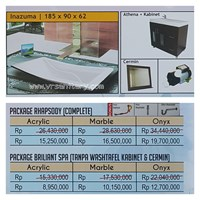 Jual Bathtub long INAZUMA (paket whirlpool)