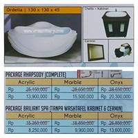 Bathtub corner ORDELIA (paket whirlpool)