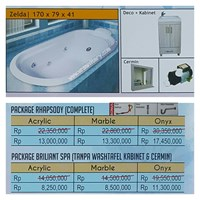 Jual Bathtub Long ZELDA (Paket Whirlpool)