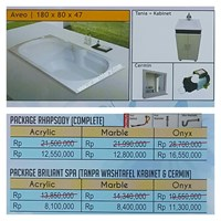 Jual Bathtub Long AVEO (Paket Whirlpool)