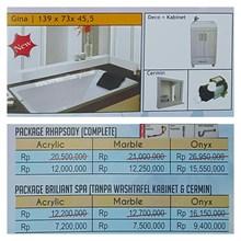 Bathtub long GINA (paket whirlpool)