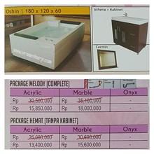 Bathtub standing OSHIN (Paket Hemat)