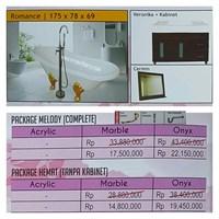 Jual Bathtub standing ROMANCE (Paket Hemat)