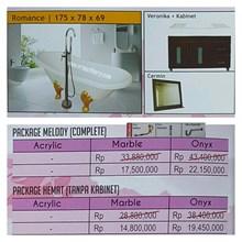 Bathtub standing ROMANCE (Paket Hemat)