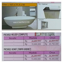 Bathtub standing ELITE (paket Hemat)
