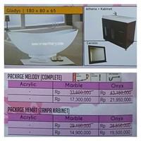 Jual Bathtub standing GLADYS (Paket Hemat)