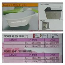Bathtub standing PAULINE (Paket Hemat)